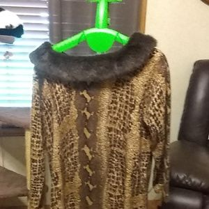 Vintage fur lined sweater